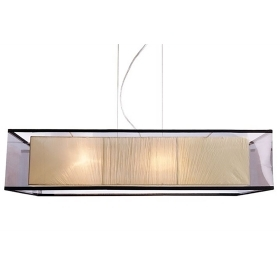 Chandelier led suspended rectangular modern lamp fabric 4 attacks E27