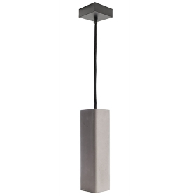 Pendant lamp, led 8W modern concrete chandelier grey suspension GU10