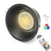 Downlight LED lamp recessed adjustable chromotherapy GU10 hole 85 light RGBW