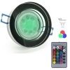 Led spotlight recessed round mirrored glass GU10 6W chromotherapy hole 6 RGBW