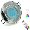 Spotlight glass multicolor led recessed round mirrored GU10 6W hole 6 RGB CCT