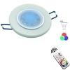 Spotlight with white glass led recessed round light coloured GU10 hole 6 RGB CCT