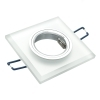 Spotlight glass multicolor led 6W recessed square chromotherapy GU10 hole 6 RGB
