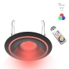 Led spotlight, recessed, black colored rings GU10 color therapy forum 9-light RGB CCT