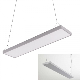 LED panel white pendant suspension 120x18cm 45W 6400K shop office