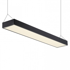 Panel LED pendant, modern suspension 120x18cm 38W 6400K shop table
