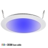 Panel downlight recessed LED slim 16W 24V DIMX chromotherapy RGBW 3000K hole 22