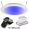 KIt chromotherapy control unit spotlight LED recessed slim 16W 24V RGBW 3000K hole 22