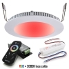 Unit KIt spotlight recessed slim chromotherapy LED 8W 24V RGBW 3000K hole 22