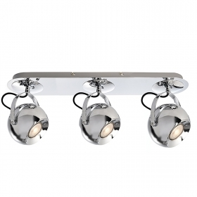 LED spotlight chandelier ceiling 3 lamp ball swivel GU10 24W office