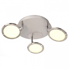 Spotlight lamp ceiling, double panel LED light 10W slim adjustable round 220V