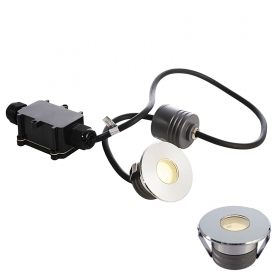 Spotlight spot floor recessed sengapassi LED COB sealing barrier, stainless steel IP67 2W