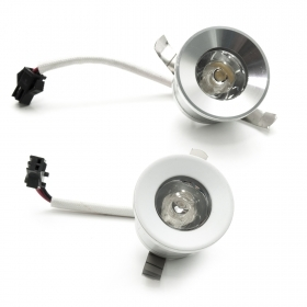 Spotlight mini LED spot round flush-mounted light staircase path indicators 1W 220V IP20 hole 28