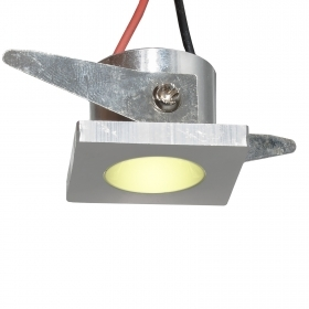 Downlight recessed LED SPOT mini 1W square point light showcase 3000K hole 25mm