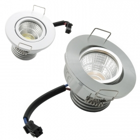 Spotlight COB LED recessed adjustable spot 3W path indicators point light showcase stairs