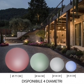 Ball ball LED 10W RGBW decorative lamp multicoloured garden IP65 E27 220V