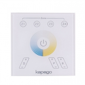 Panel LED controller touch RF 4-zone 2CH management light 2700K-6400K CCT 220V