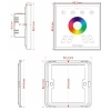 Panel controller touch recessed wall lights LED RGBW RF 4-zone 4CH 12 effects