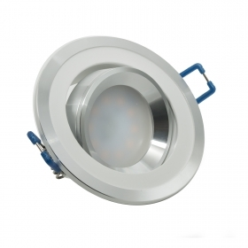 Spotlight adjustable LED 8W frame two-tone flush-mounted round diffused light hole 7cm