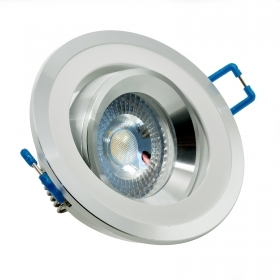 Spotlight adjustable LED 5W frame two-tone flush-mounted round corner 38 hole 7cm