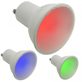 Spotlight lamp 6W, coloured light red green blue GU10 games light 220V