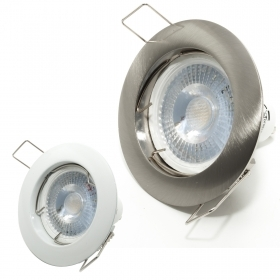 Spotlight LED bulb lamp 5W spot light recessed round lamp holder GU10 hole 6cm 220V