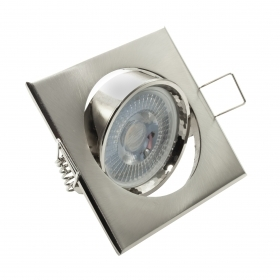 Spotlight adjustable LED 8W recessed chrome spot light 38 degree GU10 hole 7cm