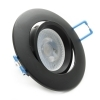 Spotlight adjustable LED 5W recessed black lamp spot angle 38 GU10 hole 75mm