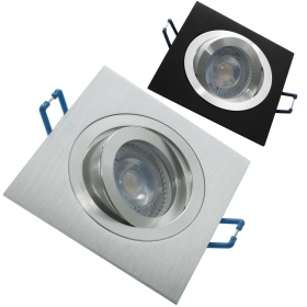 Spotlight adjustable LED 5W recessed square spot light 38 degree GU10 hole 8cm