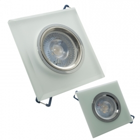 LED spotlight 5W recessed square glass spot light angle-38 degrees GU10 hole 6cm