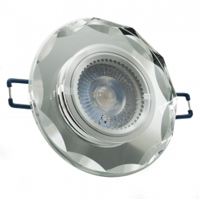 Spotlight round LED 5W GU10 gl