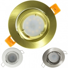 LED spotlight 5W adjustable recessed round diffused light 150 degree GU10 hole 8cm