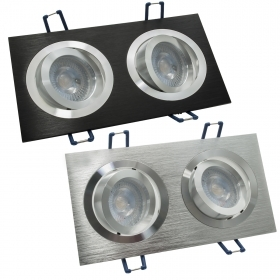 Spotlight dual lamp LED 10W adjustable recessed rectangular GU10 220V IP20