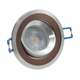 LED spotlight lamp adjustable 5W recessed round two-tone corner 38 hole 7cm