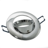 Port spotlight, recessed, spring-loaded swivel chrome-plated aluminum bore 75mm GU10 GU5.3