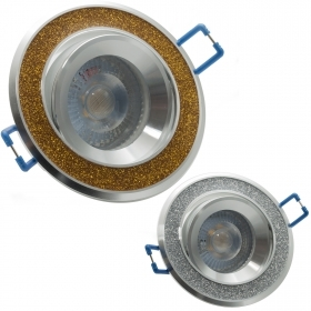 LED spotlight spot 5W recessed gold glitter GU10 angle 38 degrees, the hole 7cm