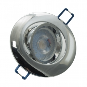 LED spotlight lamp adjustable 8W led spot light 38 degree collection chrome hole 75mm