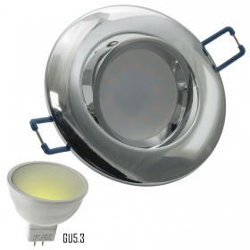 Spotlight LED 7W directional lamp 12V GU5.3, recessed, diffused light hole 75mm