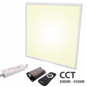 KIT LED panel 48W CCT from 3000K to 5500K recessed unit dimmable 24V