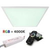 KIT LED Panel ultra slim 55W RGBW 4000K recessed unit dimmable 24V