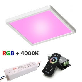 KIT ceiling lamp ceiling LED 55W control unit RGBW 4000K color therapy 24V