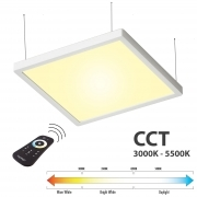 KIT panel lamp suspension LED 55W control unit CCT from 3000K to 5500K 24V