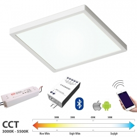 KIT ceiling light LED 48W CASAMBI bluetooth CCT light from 3000K to 5500K 24V android