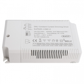 DALI power supply IEC6238650W dimmable Led driver 9-45V DC 1050-1400mA IP20