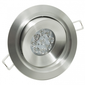 LED spotlight 18W adjustable recessed aluminium 5000k driver 220V IP20 hole 9cm