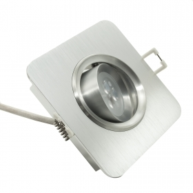 Spotlight square LED 6W adjustable