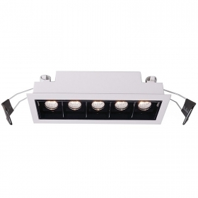 Spotlight rectangular led 10w recessed RA>90 spot 45 degrees dimmable driver DALI
