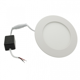 Spotlight 6W LED panel ultra slim, lamp, recessed, diffused light hole 11cm 220V