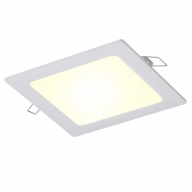 Spotlight square LED 12W panel, recessed, diffused light, 120 degree hole 15cm 220V
