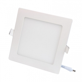 Spotlight 6W LED panel ultra slim, square, recessed, diffused light hole 11cm 220V